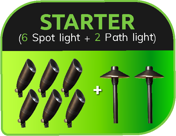 LVpro lighting - LED landscape lighting starter package